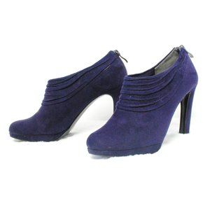 Ankle Booties Stiletto Heels Size 6.5 Suede